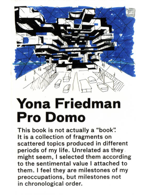 Yona Friedman / Pro Domo (Spanish Edition)